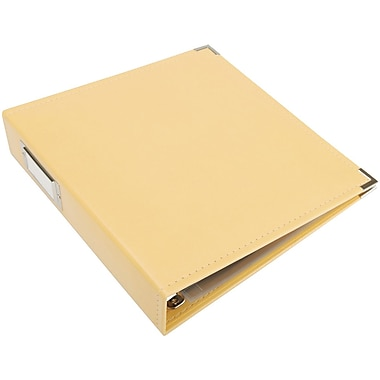 We R Memory Keepers Faux Leather 3-Ring Binder, 8.5in. x 11in., Buttercup