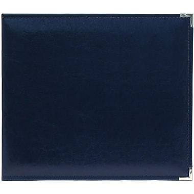 We R Memory Keepers We R Classic Leather Ring Photo Album, 8in. x 8in., Navy