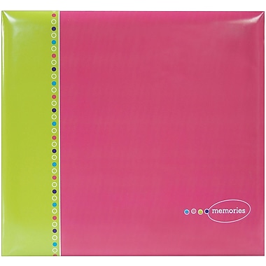 MBI Strawberry Fizz Postbound Album, 12in. x 12in.