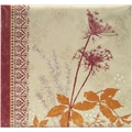 MBI Black Cherry Dandelion Postbound Album, 12in. x 12in.