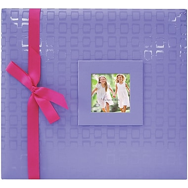 MBI Embossed Postbound Album, 12in. x 12in., Purple