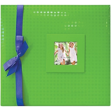 MBI Embossed Postbound Album, 12in. x 12in., Green