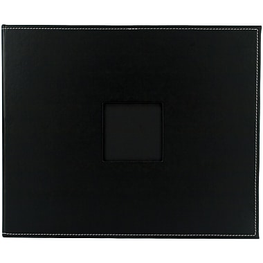 American Crafts Faux Leather 3-Ring Album, 12in. x 12in., Black