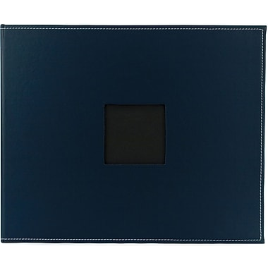 American Crafts Faux Leather 3-Ring Album, 12in. x 12in., Navy