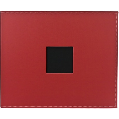 American Crafts Faux Leather 3-Ring Album, 12in. x 12in., Pomegranate