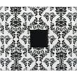 American Crafts Patterned 3-Ring Album, 12in. x 12in., Black & White Damask