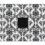 American Crafts Patterned 3-Ring Album, 12 x 12, Black & White Damask