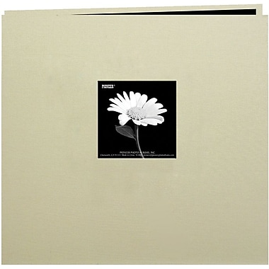 Pioneer Book Cloth Cover Postbound Album With Window, 12in. x 12in., Biscott Beige