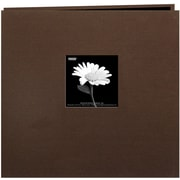 "Pioneer Book Cloth Cover Postbound Album With Window, 12"" x 12"", Brown"