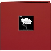 "Pioneer Book Cloth Cover Postbound Album With Window, 12"" x 12"", Burgundy"