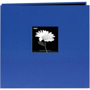 "Pioneer Book Cloth Cover Postbound Album With Window, 12"" x 12"", Cobalt Blue"