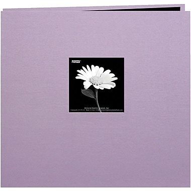Pioneer Book Cloth Cover Postbound Album With Window, 12in. x 12in., Misty Lilac