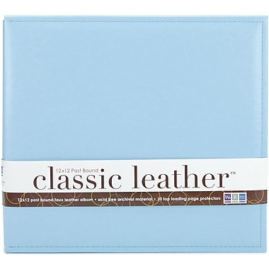 We R Memory Keepers We R Classic Leather Postbound Album, 12in. x 12in., Baby Blue