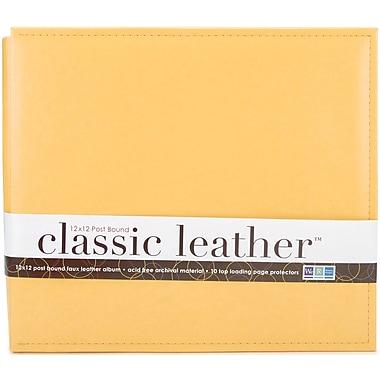 We R Memory Keepers We R Classic Leather Postbound Album, 12in. x 12in., Buttercup