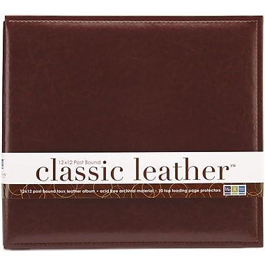 We R Memory Keepers We R Classic Leather Postbound Album, 12in. x 12in., Cinnamon