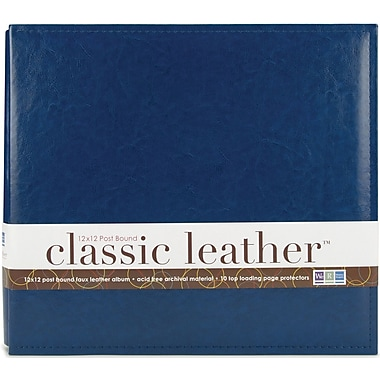 We R Memory Keepers We R Classic Leather Postbound Album, 12in. x 12in., Cobalt