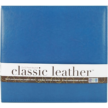 We R Memory Keepers We R Classic Leather Postbound Album, 12in. x 12in., Country Blue