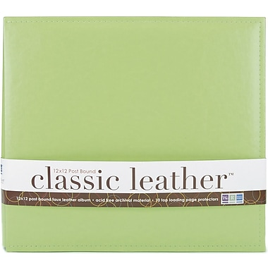 We R Memory Keepers We R Classic Leather Postbound Album, 12in. x 12in., Kiwi