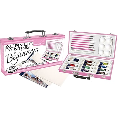 Royal Brush Pink Art For Beginners Artist Set, Acrylic Painting