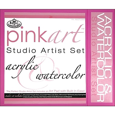 Royal Brush Pink Art Studio Artist Set, Acrylic & Watercolor