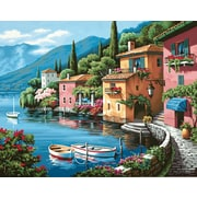 "Dimensions Paint By Number Craft Kit Painting, 20"" x 16"", Lakeside Village (91425)"