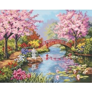 "Dimensions Paint By Number Craft Kit Painting, 20"" x 16"", Japanese Garden (91415)"