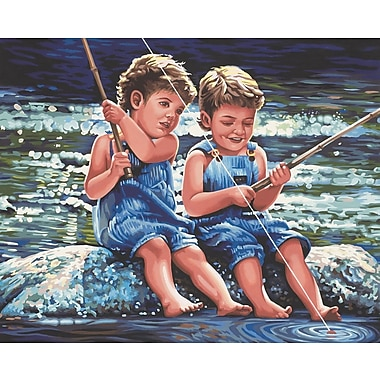 Dimensions Paint By Number Kit, 20in. x 16in., Fishin' Pals