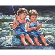 "Dimensions Paint By Number Craft Kit Painting, 20"" x 16"", Fishin' Pals (91414)"