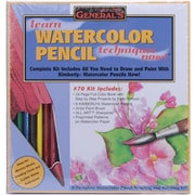 General Pencil Learn Watercolor Pencil Techniques Now! Kit