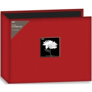 "Pioneer Fabric 3-Ring Binder Album With Window, 12"" x 12"", Red"