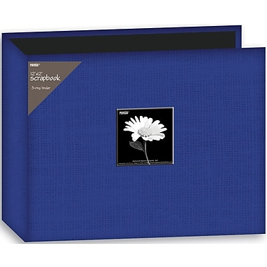 Pioneer Fabric 3-Ring Binder Album With Window, 12in. x 12in., Blue