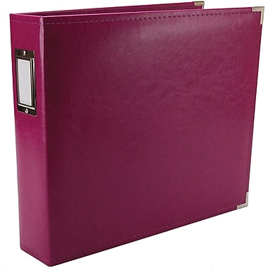 We R Memory Keepers We R Faux Leather 3-Ring Binder, 12in. x 12in., Plum