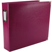 We R Memory Keepers We R Faux Leather 3-Ring Binder, 12 x 12, Plum