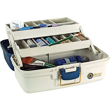 Creative Options Creative Options 2 Tray Organizer, 14in. x 8.5in. x 7.75in. - Blue/Off White