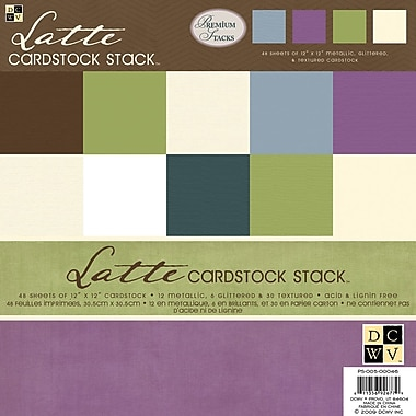 Diecuts With A View Latte Solid Cardstock Stack 12in. x 12in.-48 Sheets