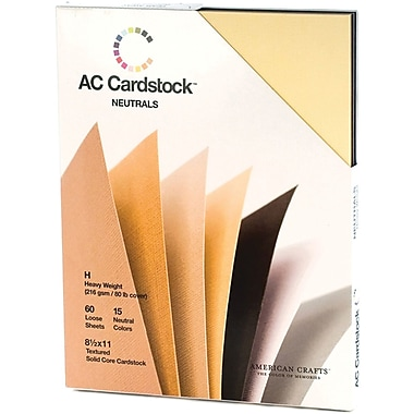 American Crafts Cardstock Pack, 8.5in. x 11in., Neutrals