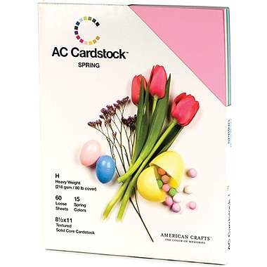 American Crafts Seasonal Cardstock Pack, 8.5in. x 11in., Spring