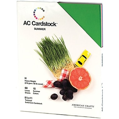 American Crafts Seasonal Cardstock Pack, 8.5in. x 11in., Summer