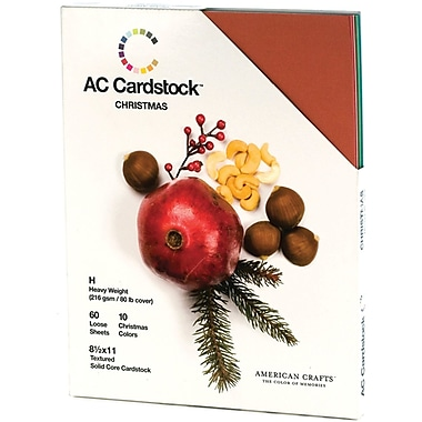 American Crafts Seasonal Cardstock Pack, 8.5in. x 11in., Christmas