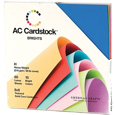 American Crafts Cardstock Pack, 8in. x 8in., Brights