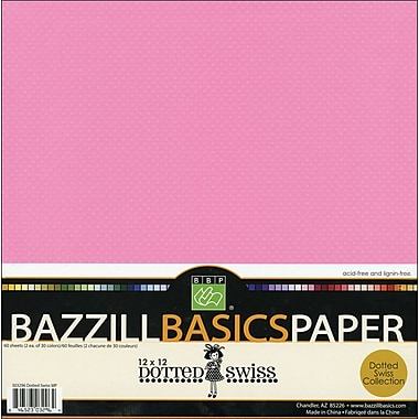 Bazzill Dotted Swiss Multi-Pack, 12in. x 12in.