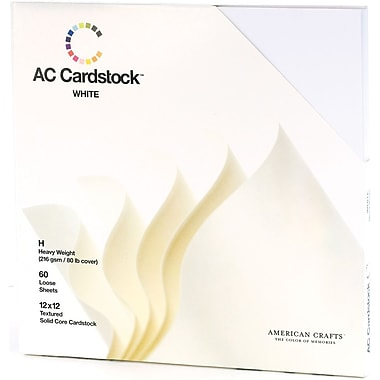 American Crafts Cardstock Pack, 12in. x 12in., White