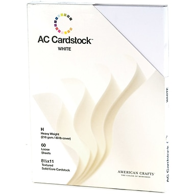 American Crafts Cardstock Pack, 8.5in. x 11in., White