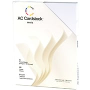 "American Crafts Cardstock Pack, 8.5"" x 11"", White"