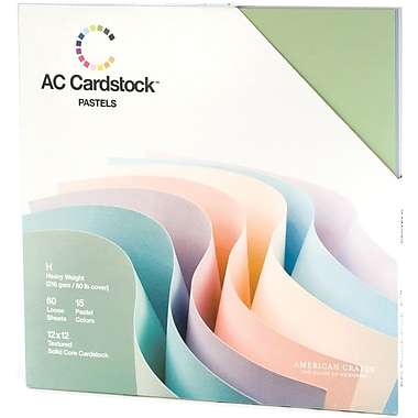 American Crafts Cardstock Pack, 12in. x 12in., Pastels