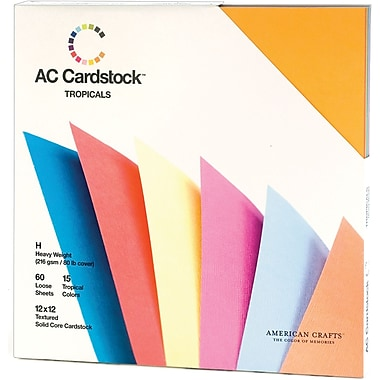 American Crafts Cardstock Pack, 12in. x 12in., Tropicals