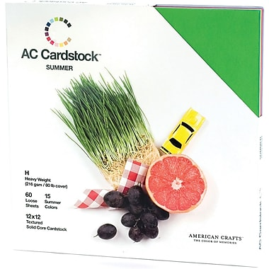 American Crafts Cardstock Pack, 12in. x 12in., Summer