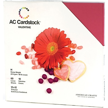 American Crafts Cardstock Pack, 12in. x 12in., Valentine