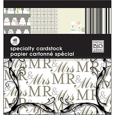 Me & My Big Ideas MAMBI Specialty Cardstock Pad, 12in. x 12in., Wedding
