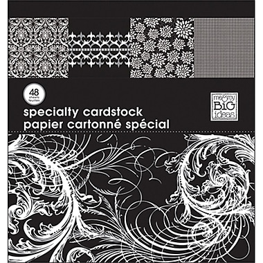 Me & My Big Ideas MAMBI Specialty Cardstock Pad, 12in. x 12in., Black & White